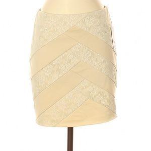 Silence and Noise Mini Silhouette Skirt Medium Tan